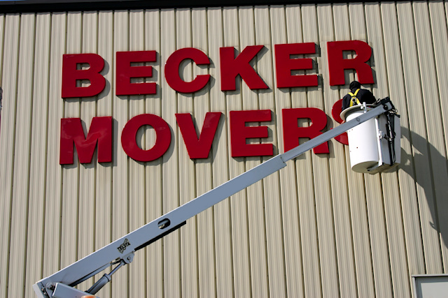 Becker Movers Dimensional Letters Plastic Outdoor Sign