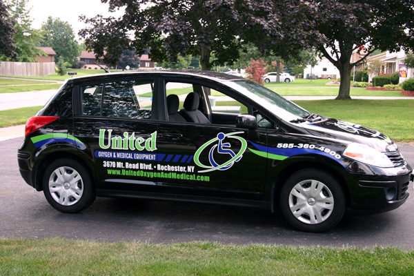 United Oxygen Spot Vehicle Graphics Rochester NY by RSG 3