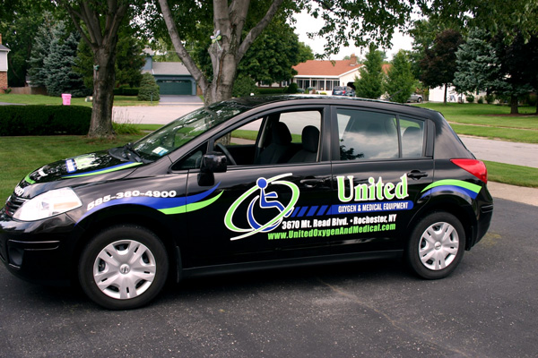 United Oxygen Spot Vehicle Graphics Rochester NY by RSG 4