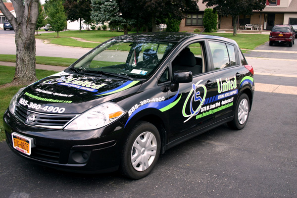 United Oxygen Spot Vehicle Graphics Rochester NY by RSG 1