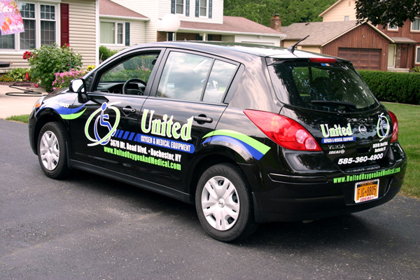 United Oxygen Spot Vehicle Graphics Rochester NY by RSG 2