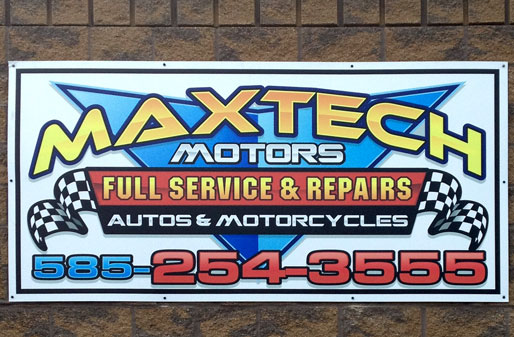 Maxtech Motors Building Sign by Rochester Signs and Graphics