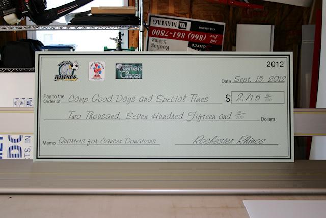 Large Format Digitally Printed Checks