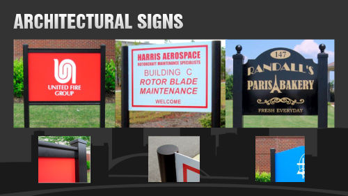 Outdoor Signs, Architectural Signs
