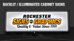Backlit and Illuminated Cabinet and Box Signs