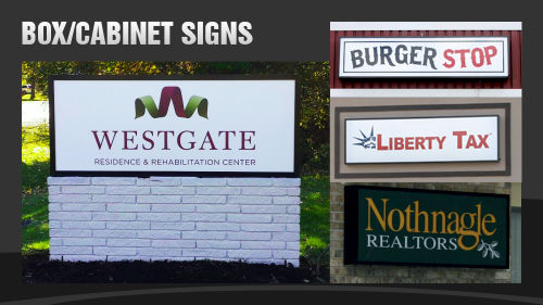 Outdoor Signs, Box Signs and Cabinet Signs
