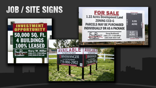 Job Signs, Site Signs, Yard Signs