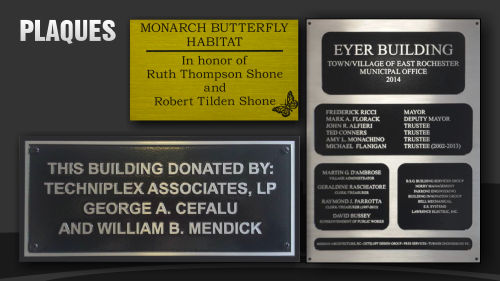 Indoor and Outdoor Metal Plaques